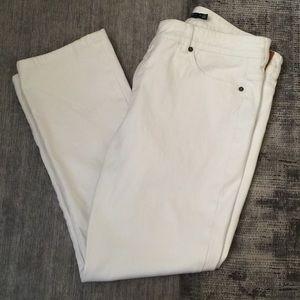 LRL Ralph Lauren Ladies White StraightLeg Jeans 14